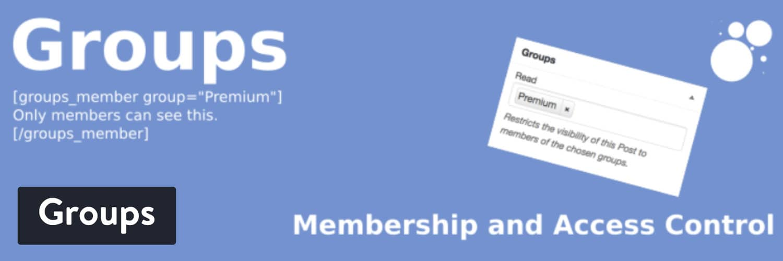 WordPress插件-Groups