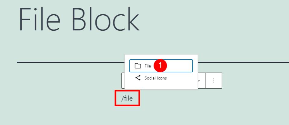 快速添加文件区块方式
