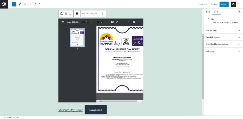 文件区块PDF预览