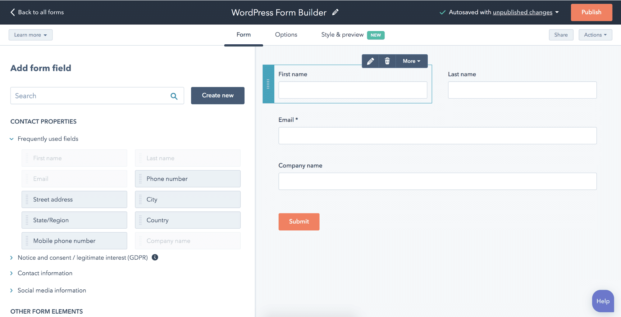 WordPress插件-HubSpot