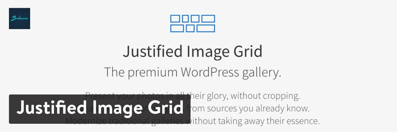 WordPress插件-Justified Image Grid