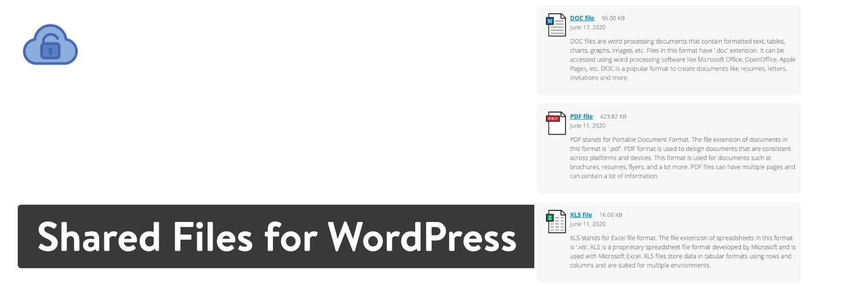 Shared Files for WordPress插件