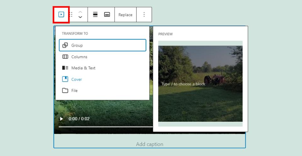 视频更改区块或样式