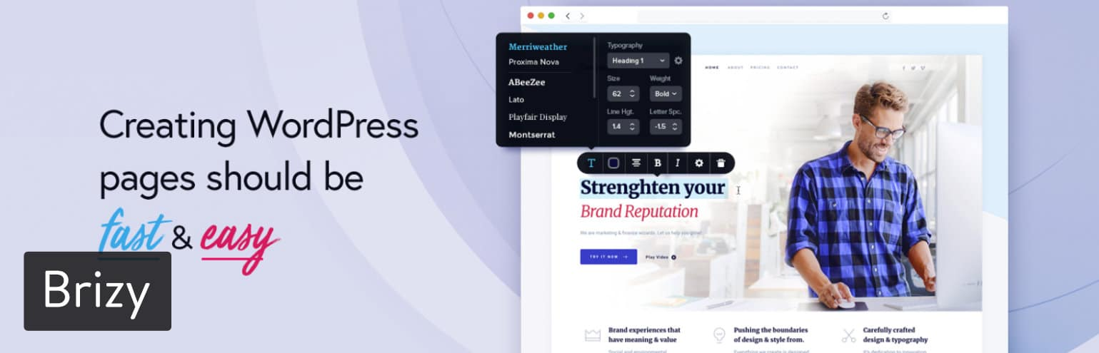 WordPress页面构建器插件-Brizy