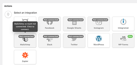 Mailchimp连接WordPress