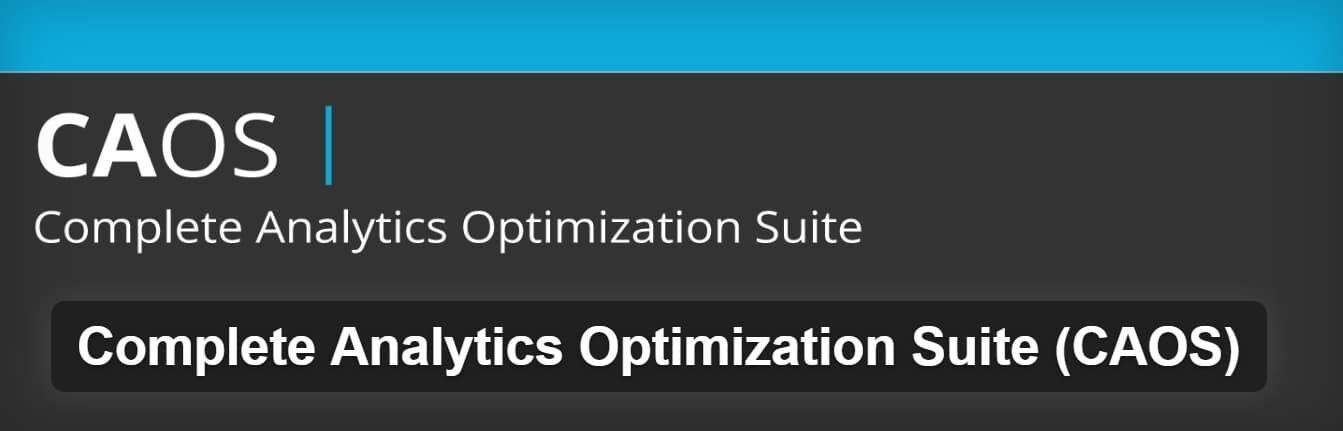 Complete Analytics Optimization Suite插件
