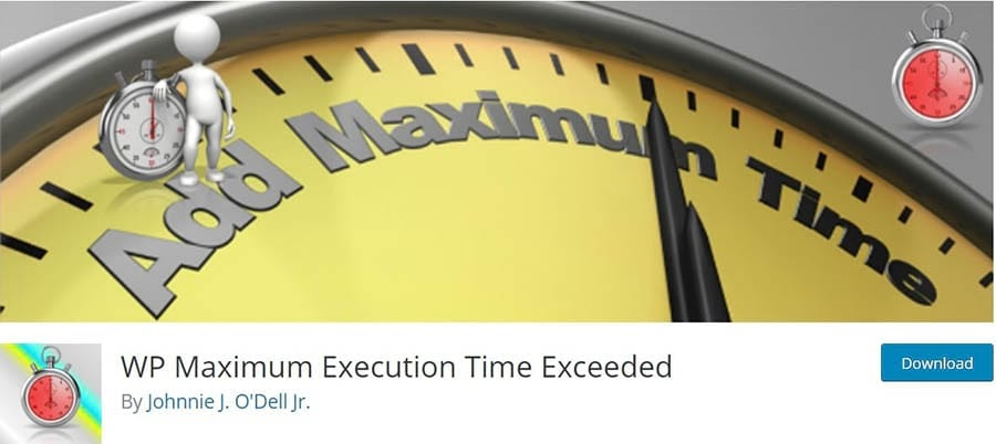 WP Maximum Execution Time Exceeded插件