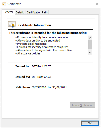 Let's Encrypt Root CA