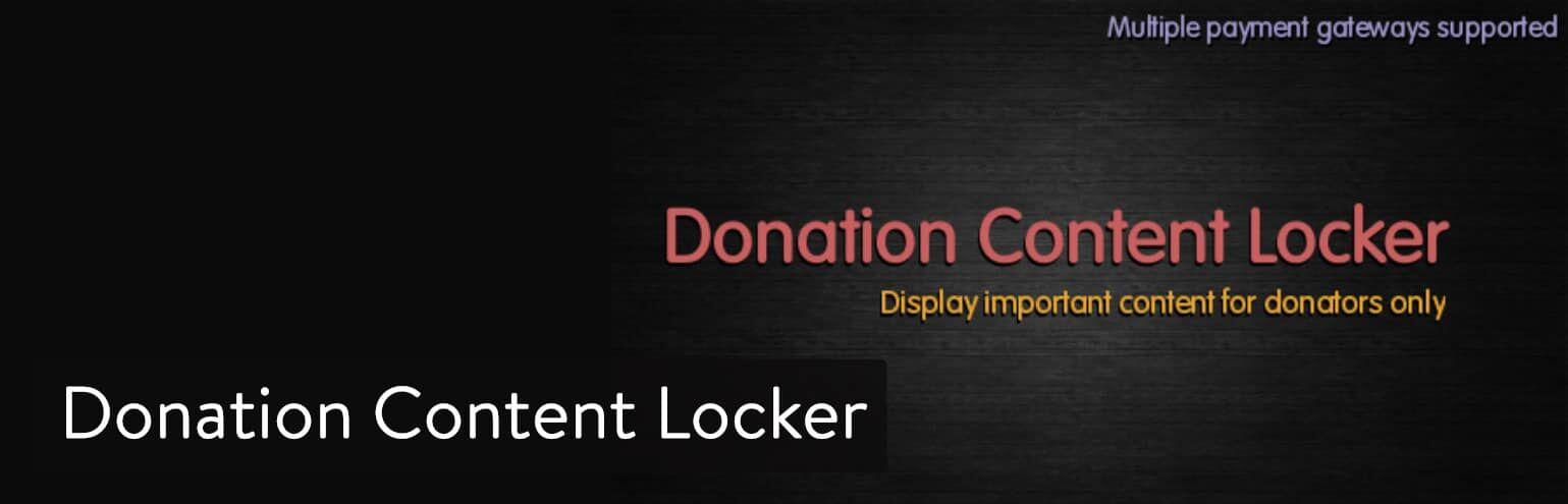 WordPress插件-Donation Content Locker
