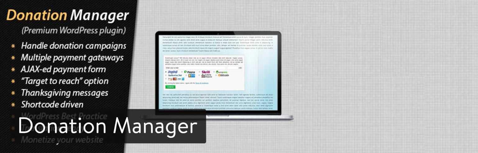 WordPress插件-Donation Manager