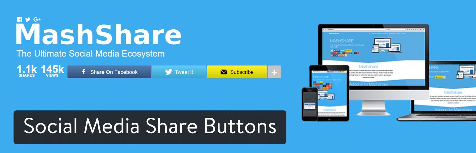 WordPress插件-Social Media Share Buttons