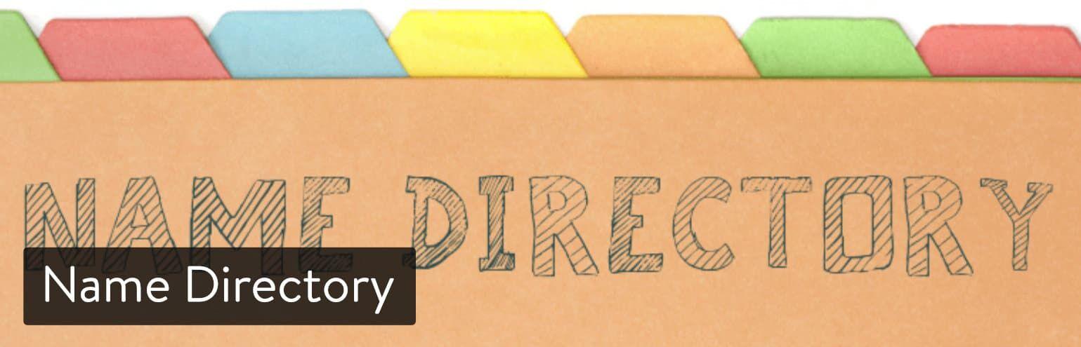 WordPress插件-Name Directory