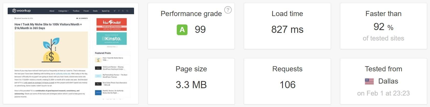 使用原生WordPress评论进行速度测试