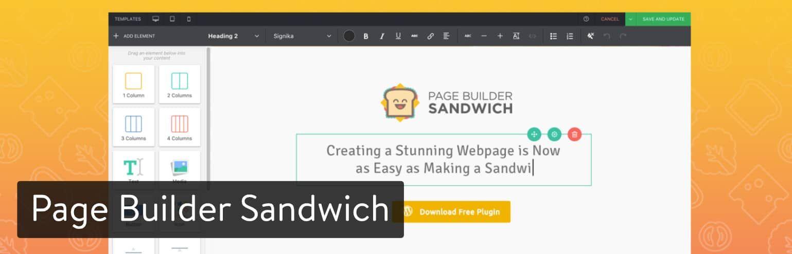 Page Builder Sandwich页面生成器