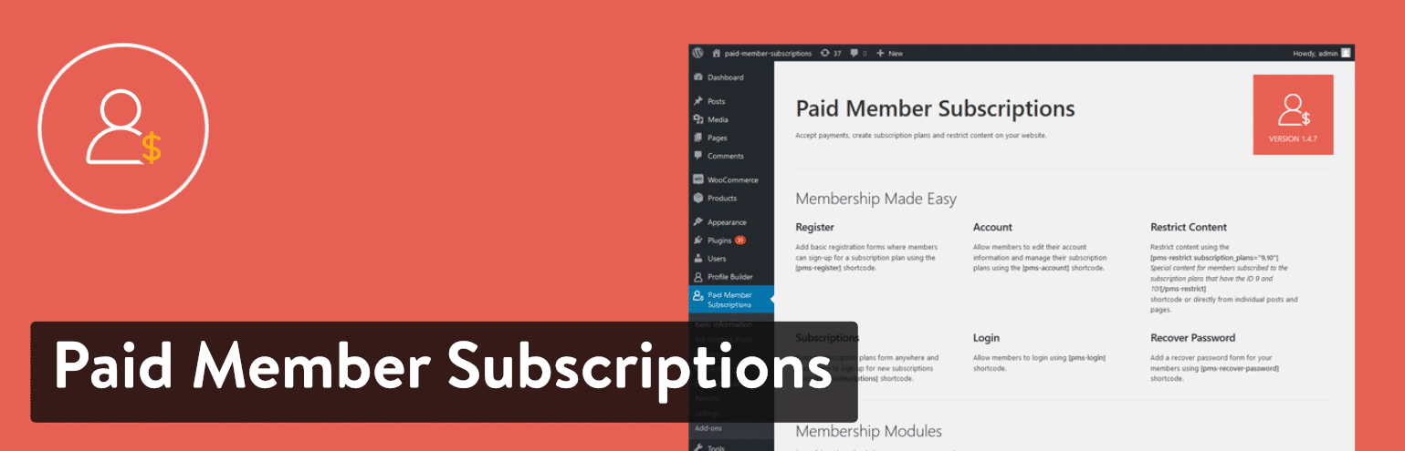 Paid Member Subscriptions插件