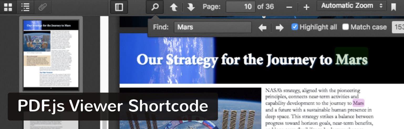 PDF.js Viewer Shortcode插件