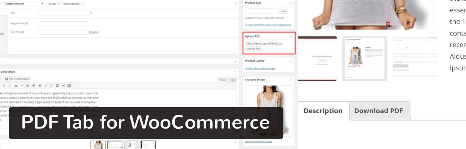 PDF Tab for WooCommerce插件