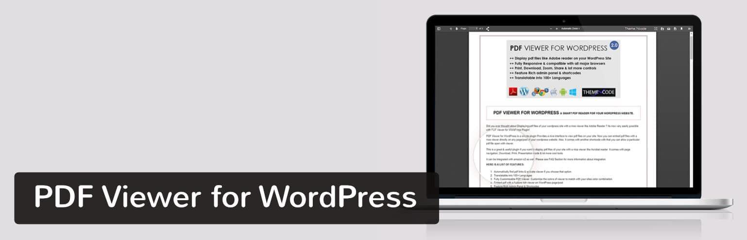 PDF查看器-PDF Viewer for WordPress