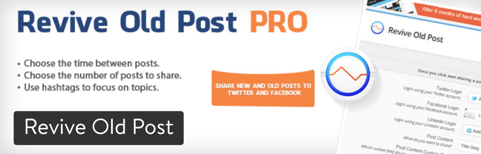 WordPress插件-Revive Old Post