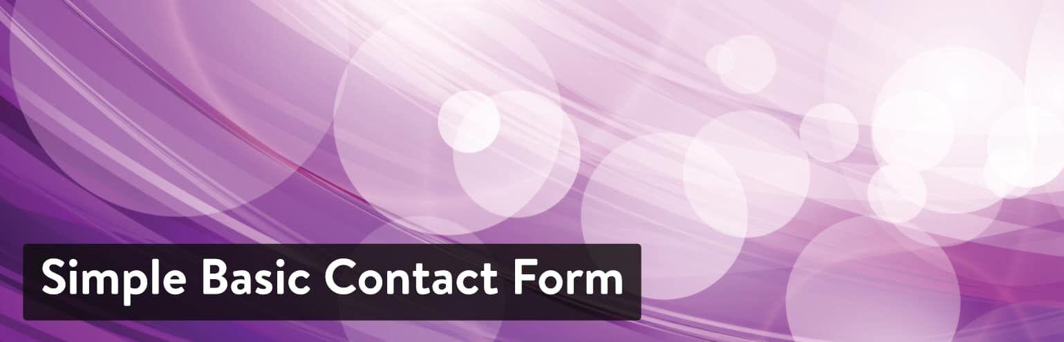 WordPress插件-Simple Basic Contact Form