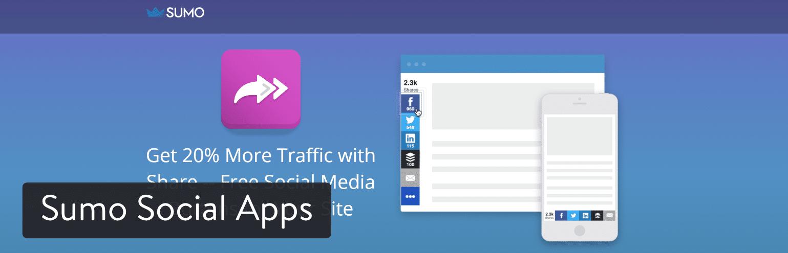 WordPress插件-The Sumo Social Apps