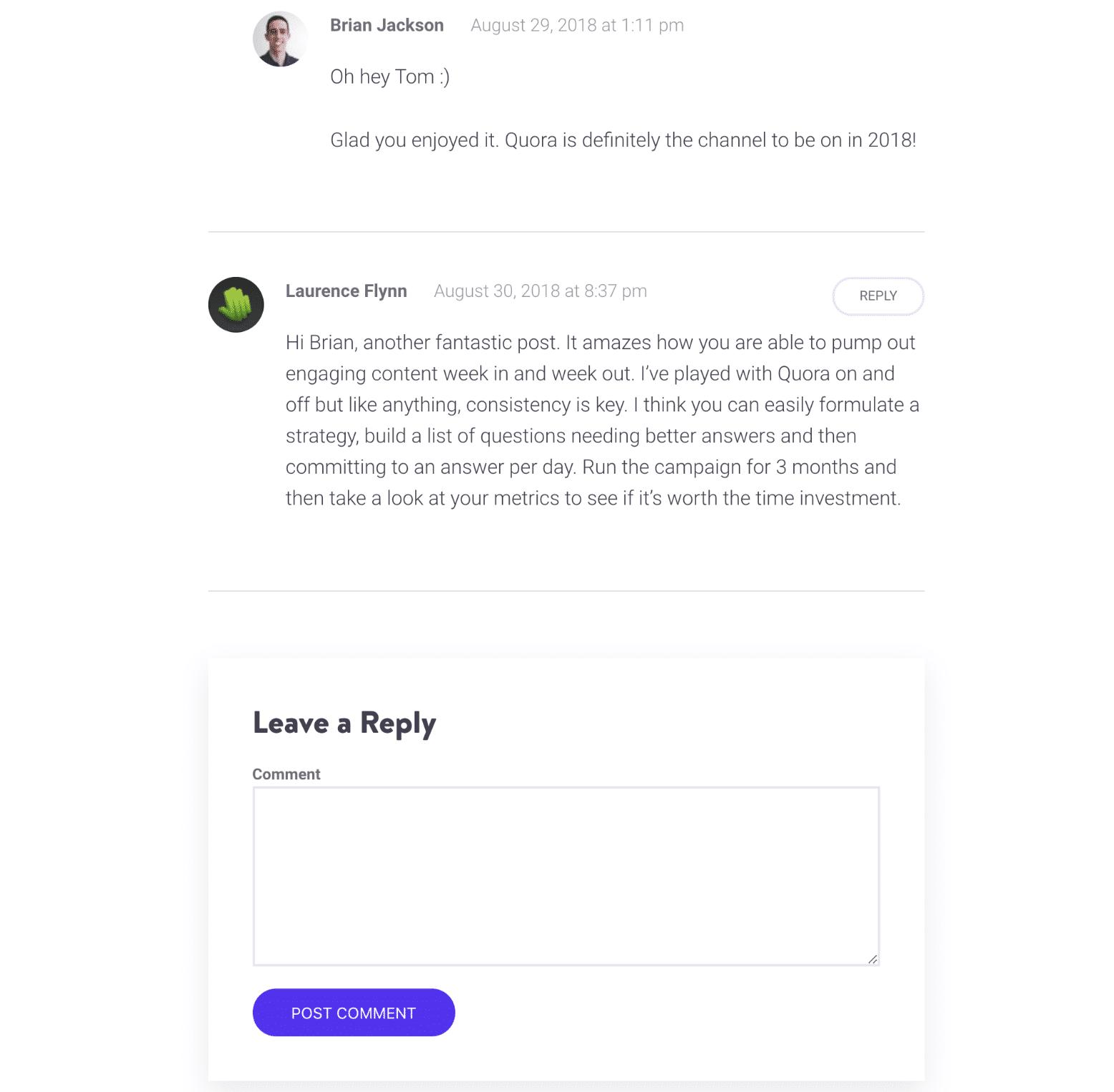 WordPress原生评论系统