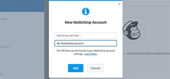 Mailchimp API密钥