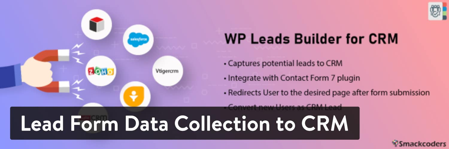 WordPress 插件-Lead Form Data Collection to CRM