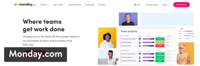 与WooCommerce集成的Monday.com项目管理软件